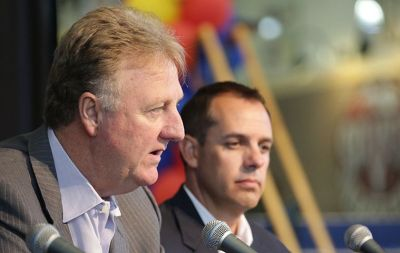 Larry Bird and Frank Vogel were always an odd couple, but the quirky combo worked - for awhile.