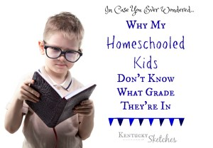 In Case You Ever Wondered: Why My Homeschooled Kids Don't Know What Grade They're In