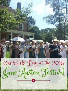 Our Girls' Day at the 2016 Jane Austen Festival