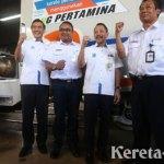 KAI & Pertamina Uji Coba Kereta Berbahan Bakar LNG dari Jakarta-Bandung