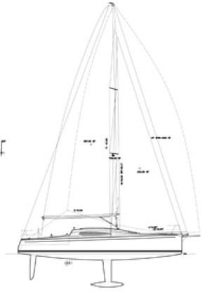 Santa Cruz 37 Sail Plan