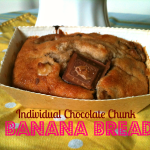 Easy Individual Chocolate Chunk Banana Bread Loaves