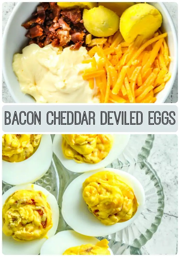 Bacon Cheddar Deviled Eggs [Recipe] - KETOGASM