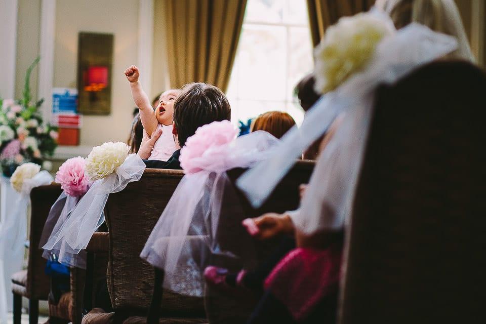 baby at wedding