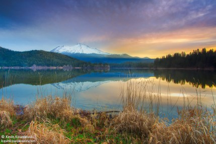 Mt. Shasta from Lake Siskiyou, California