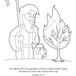 Coloring Page: Moses and the Burning Bush