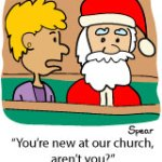 Cartoon: New Here Santa?