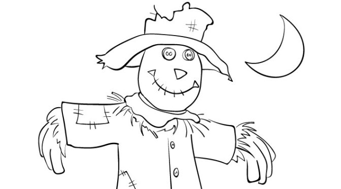 Image Result For Cute Scarecrow Coloring