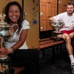 Li Na and Stan Wawrinka (Tennis Australia)