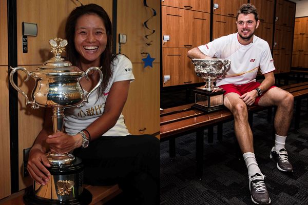 Li Na and Stan Wawrinka (Tennis Australia)