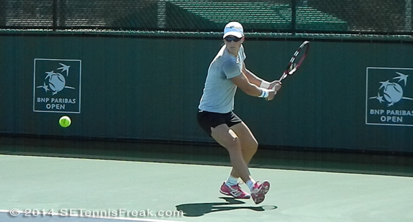 Sam Stosur at the BNP Paribas Open