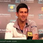 BNP Paribas Open champion, Novak Djokovic