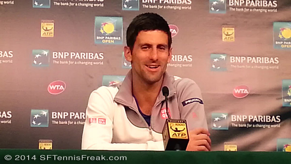 BNP Paribas Open champion, Novak Djokovic