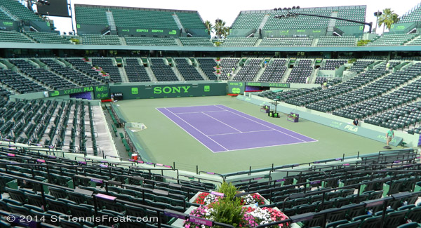 Stadium court at Crandon Park after the men's final.