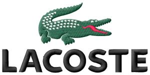 Lacoste Logo Embroidery Design