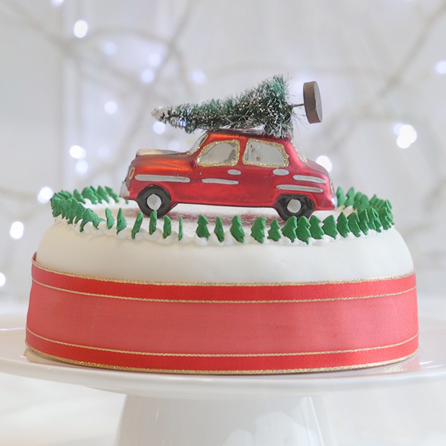 Christmas Cake Decorating Ideas Driving home for Christmas cake
