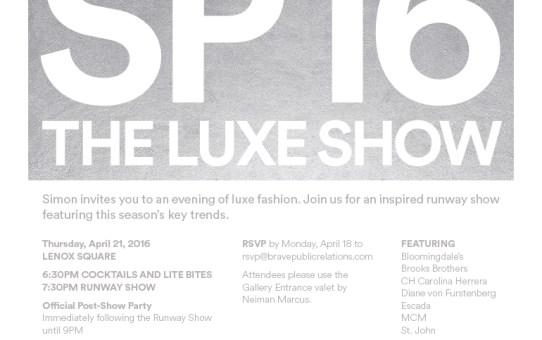 Luxe Show Invite At Lenox Square