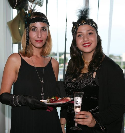 Maxine Lopez-Keogh and Remy Pelzer sample the food and drink.