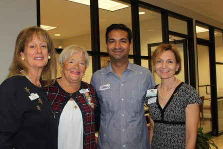 BPW's CM Bishop, left, moderated the forum. Also pictured: BPW President Charlotte Quinn, congressional candidate Carlos Curbelo and First State Bank's Joy Wilson.
