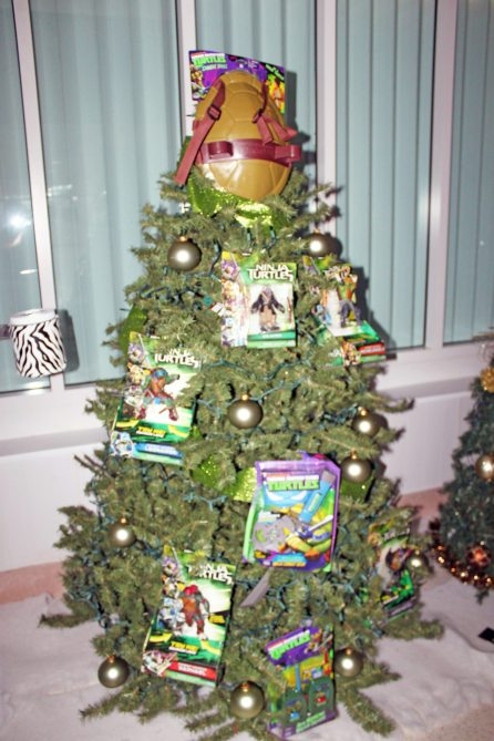This tree has Ninja Turtle theme and plenty of take-home toys.