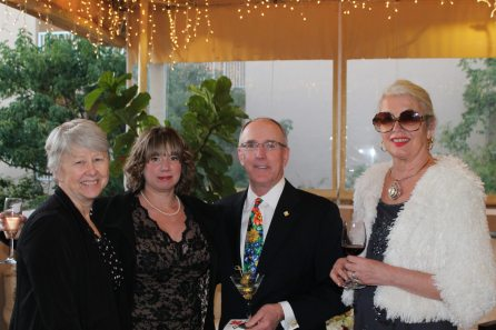 Sue Turner and Tami Fox from the FKSPCA party with Frank Merrill from the Dogwood Foundation and Jane Dawkins.