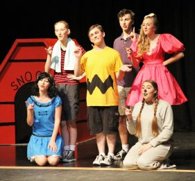 On stage, Claire McCarthy, Mackenzie Helms, Hannah Gracy, Zach Perry, John Galjanic, and Ariana Patterson shined.