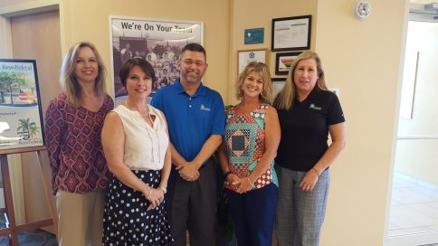 Pictured from left to right –Marianne Magner-AVP of HR and Member Services, Tanya Barrios- Controller, Scott Duszynski -President & CEO, Mary Lou Carn- Marketing Director, Susan Fowler- Compliance Officer