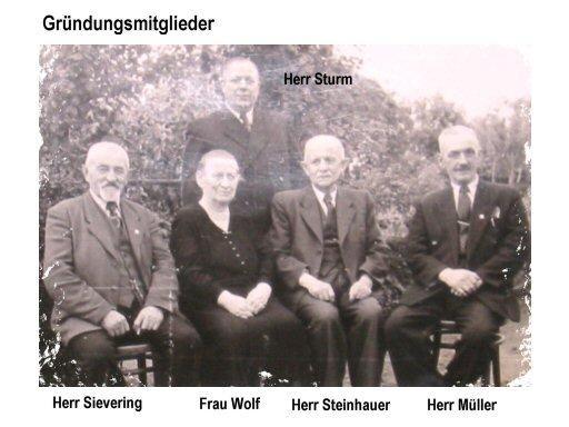 Die Gründungsmitglieder - v.l.n.r. Herr Sievering, Frau wolf, Herr Steinhauer, Herr Müller