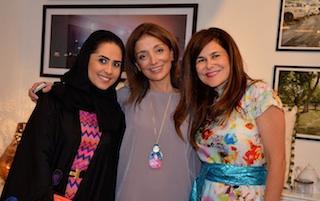 From left: Fatma Mullah, Rana Grassi and Nadine Khoury