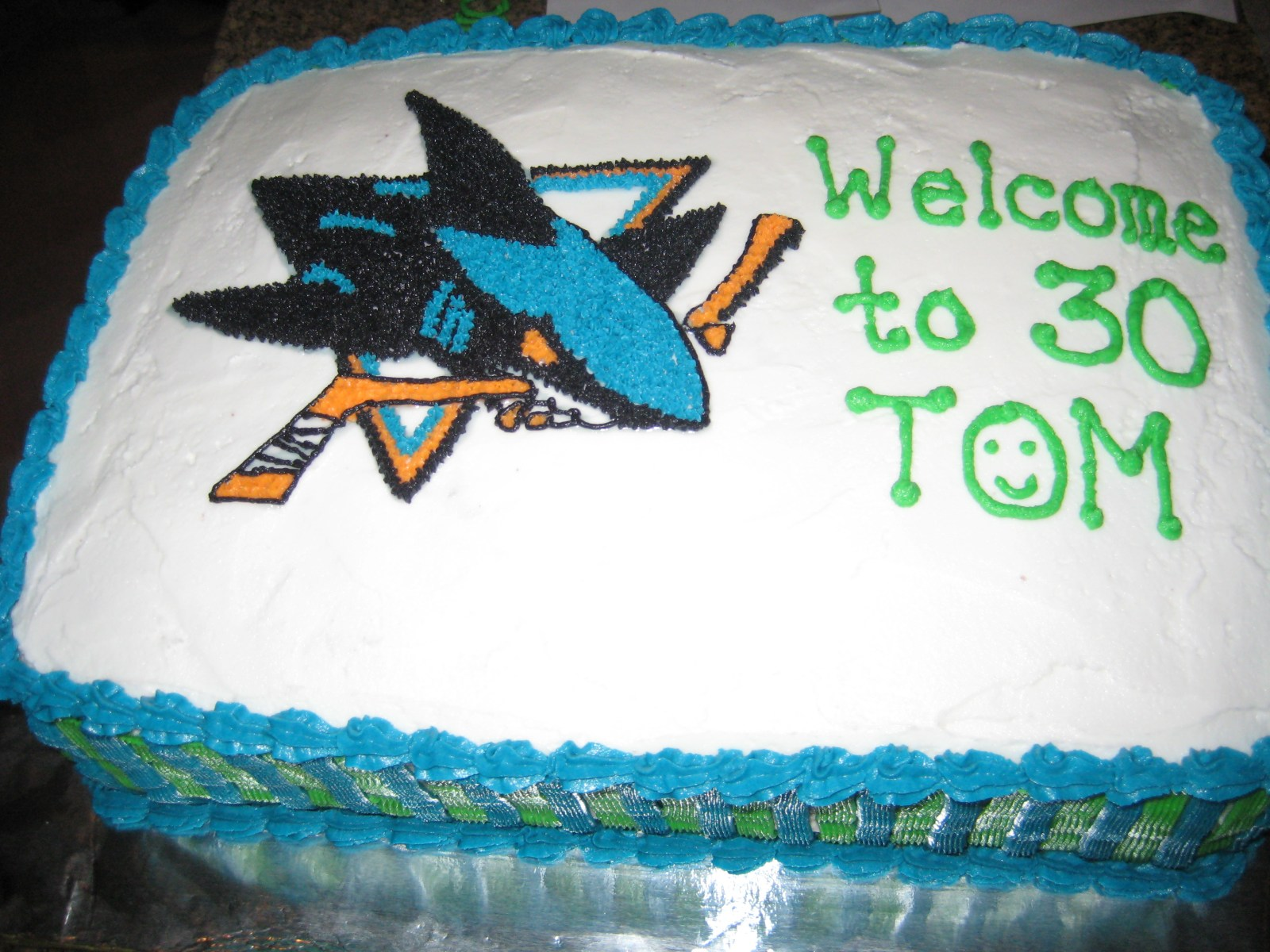 Tom's Birthday Cake– San Jose Sharks  Queen of the Chennaults