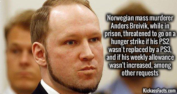 1097 Anders Breivik Hunger Strike