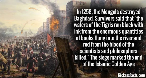 1189 Mongol invasion of Baghdad
