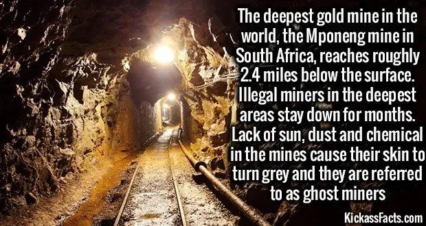 1272 Mponeng mine Ghose Miners