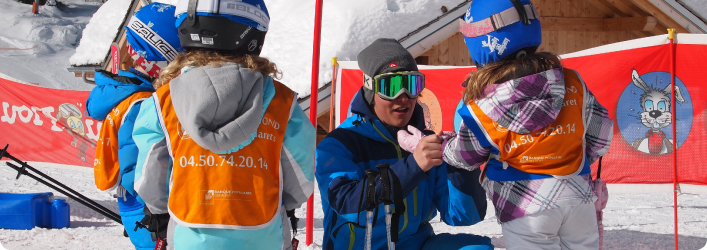 FSC ski school helpers offer little ones a friendly face and an extra set of hands
