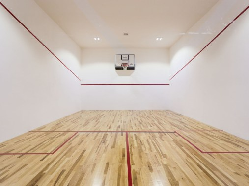 As if the bowling alley weren't enough of a draw, this Orlando home also features a full basketball court.