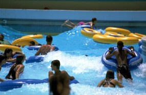 Cooling off at the wave pool.