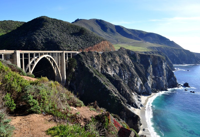 Heading north over the Bixby bridge into Big Sur.