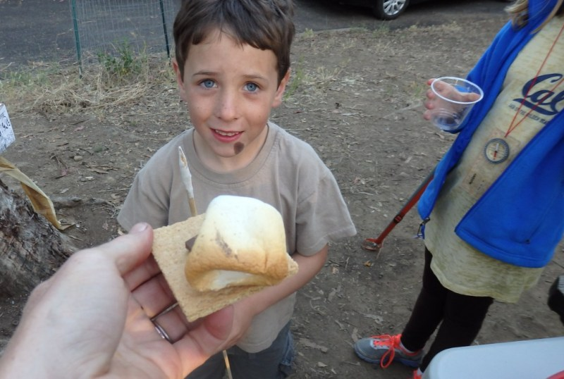 Merrit presents the first in his succession of perfectly roasted mallows.