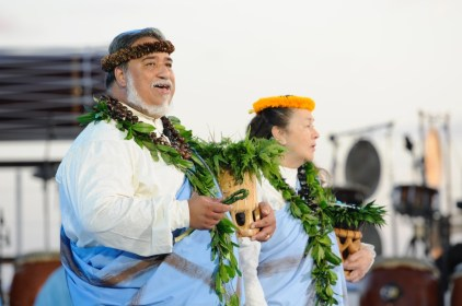 Hawaiian traditions of hula, song and oli (chants) are part of the ceremony.