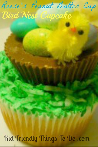 Reese's Peanut Butter Cup Easter or Spring Cupcake! Easy and cute!