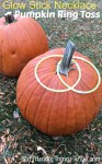 Pumpkin Ring Toss Using Glow In The Dark Necklaces As Rings!