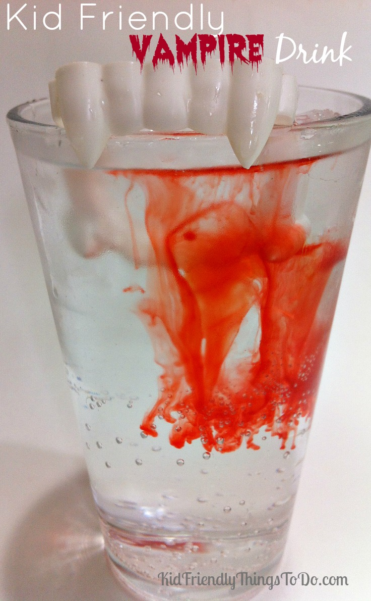 Kid Friendly Halloween Vampire Drink