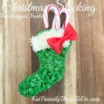 A Rice Krispies Treat Stocking For Christmas Fun