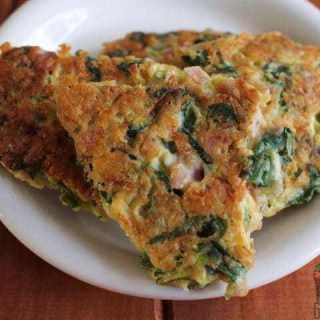 green veg and ham fritters recipe