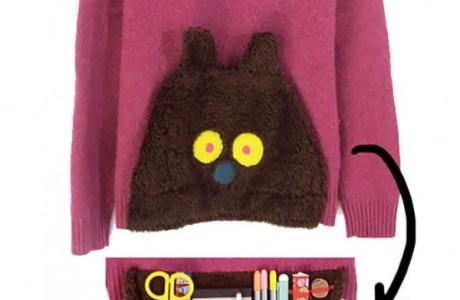 Secret Pocket Fuzzy Bear Pullover