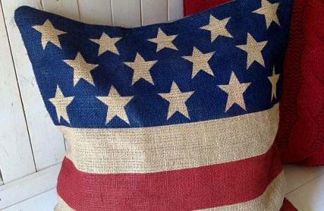 DIY Burlap Flag Tutorial