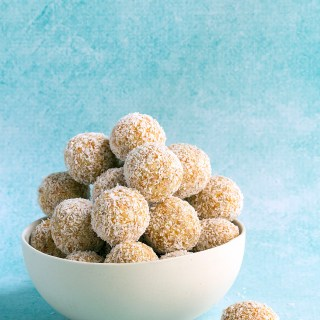 sweet coconut and apricot balls