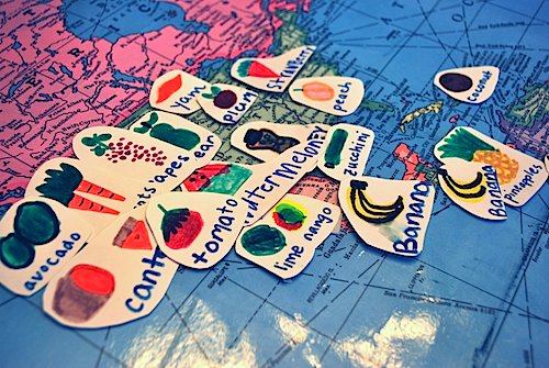 Where our veggies and fruit is from- Kid World Citizen