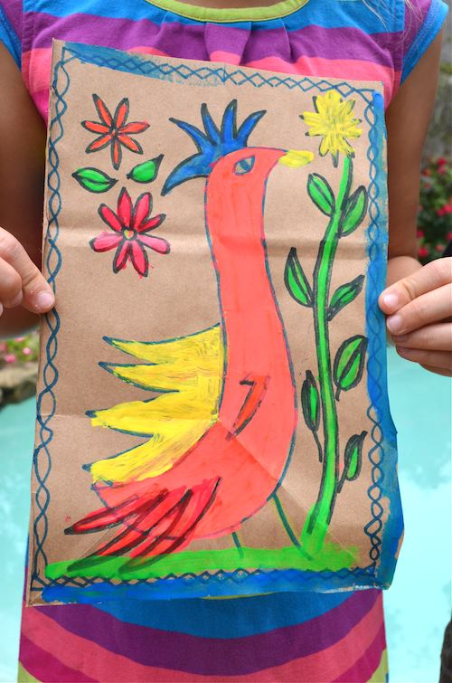 Mexican folk art amate paintings for Folk art craft paint