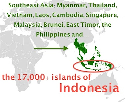 Map of Southeast Asia and Indonesia- Kid World Citizen